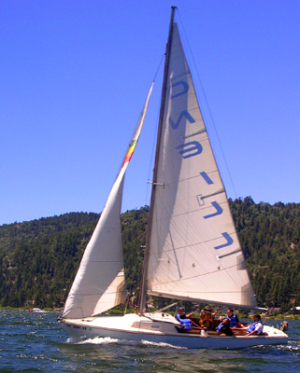 Sailing Big Bear Lake